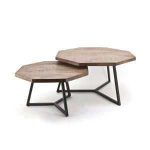 Achthoekige salontafel set